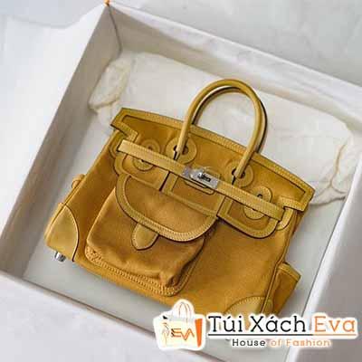 Túi Xách Hermes Cargo Mini Birkin Bag Siêu Cấp Màu Vàng Đẹp.