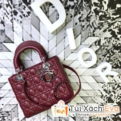 Túi Xách Dior Lady Siêu Cấp Màu Đỏ Đô M44550
