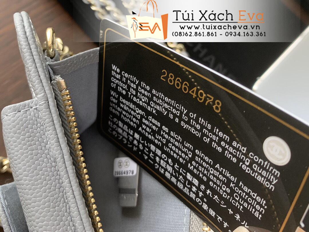 Túi Xách Chanel Siêu Cấp Đựng Điện Thoại Màu Xám