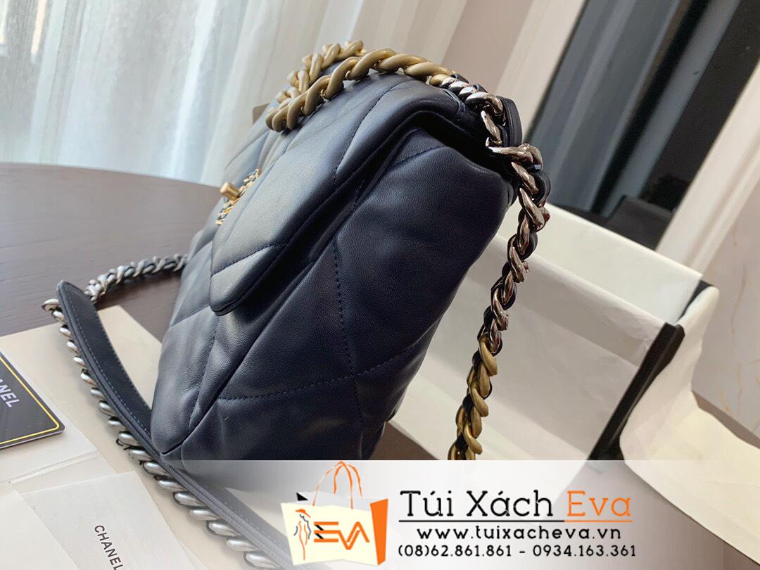 Túi Xách Chanel 19 Flap Bag Siêu Cấp Da lì Màu Đen