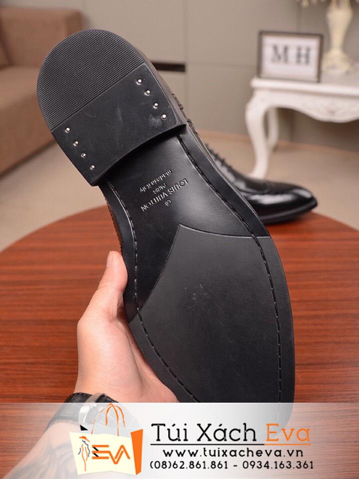 Giày Louis Vuiton Nam Super Da Bóng Màu Đen