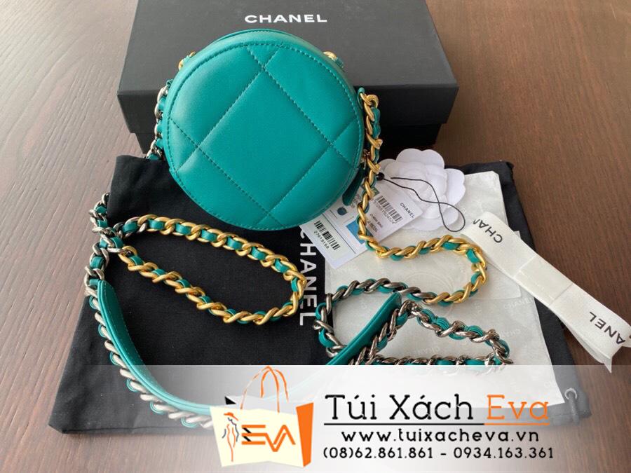 Túi  Xách Chanel 19 Siêu Cấp Hình Tròn Màu Xanh