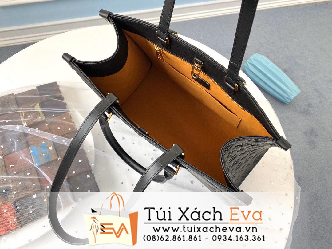 Túi Xách Louis Vuiton Onthego Siêu Cấp Hoa Nổi Màu Đen M45040