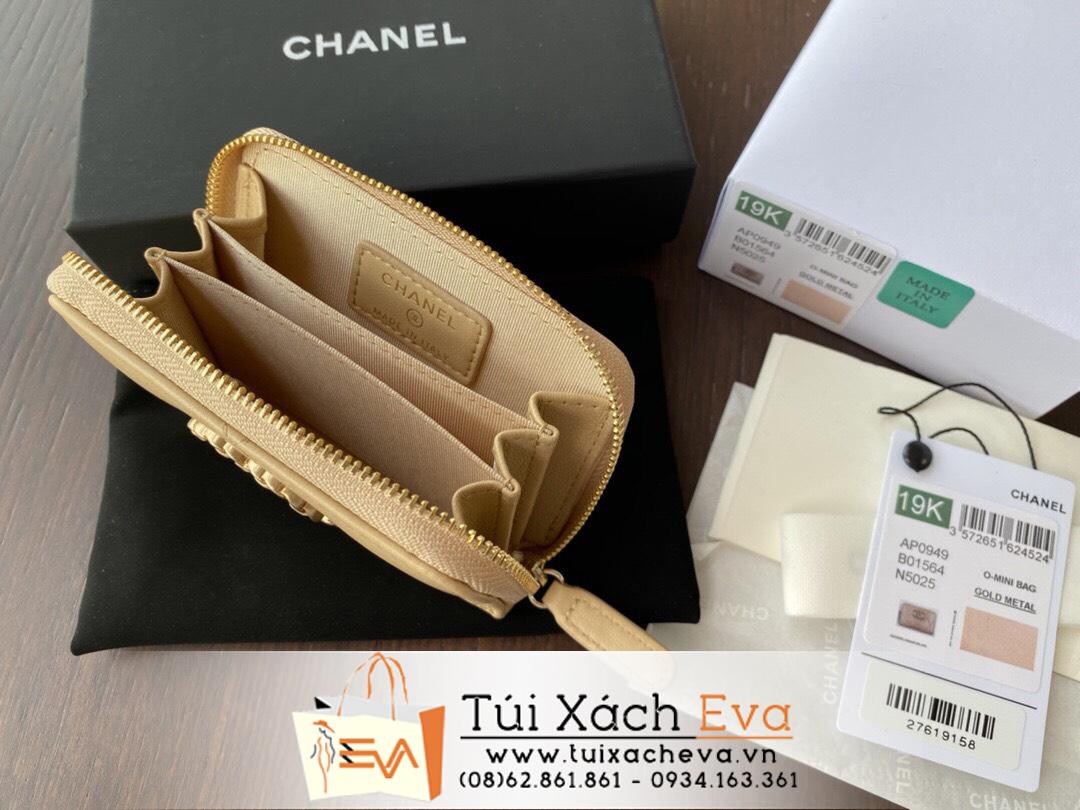 Ví Chanel 19 Siêu Cấp Ngắn Màu Nude Khoá Kéo