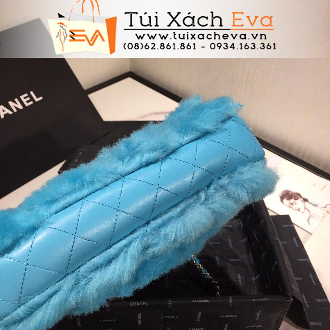 Túi Xách Chanel Lông Siêu Cấp Màu Xanh
