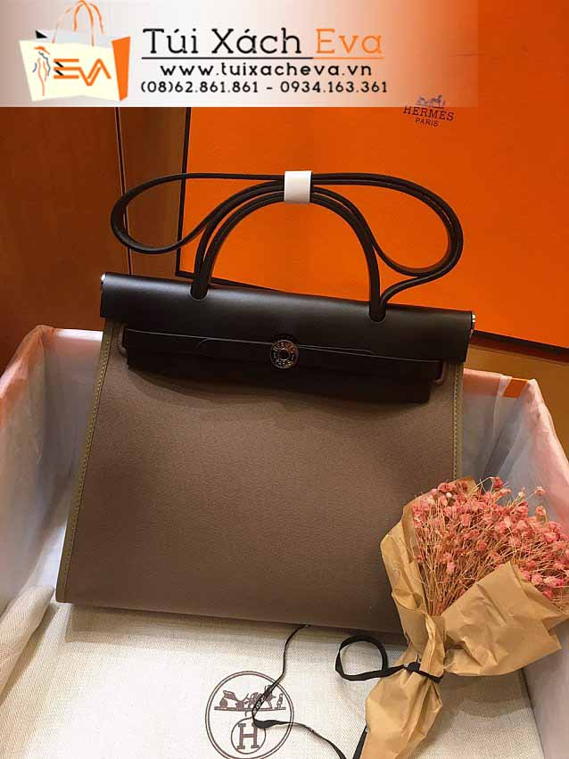 Túi Xách Hermes Her Bag Siêu Cấp Màu Nâu Đẹp.