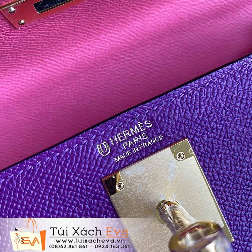 Túi Xách Hermes Kelly Bag SIêu Cấp Màu Tím Đẹp.