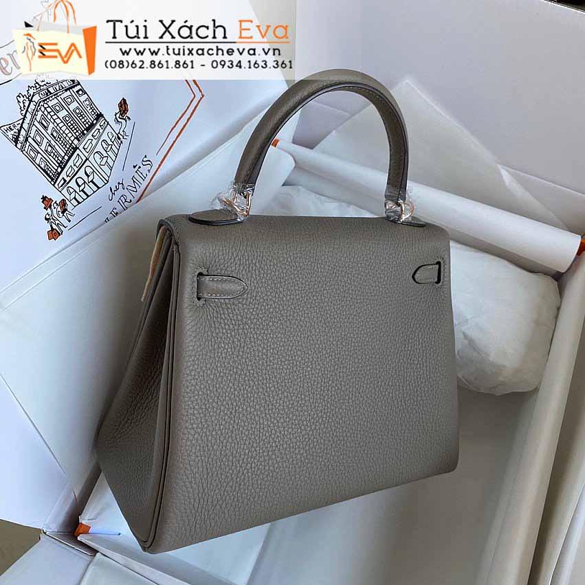 Túi Xách Hermes Kelly Bag SIêu Cấp Màu Xám Đẹp.
