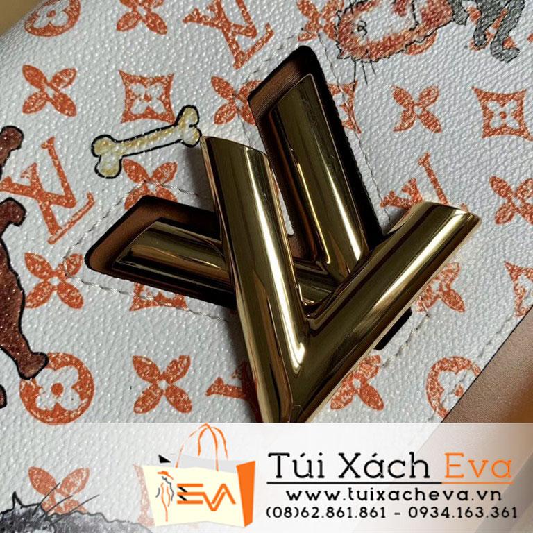 Túi Xách Lv Twist Mm Siêu Cấp Màu Nâu Hoa M44460