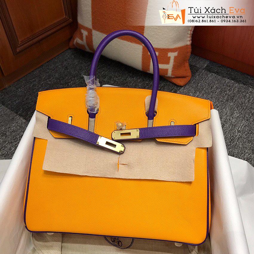Túi Xách Hermes Birkin Bag Siêu Cấp Màu Cam Đẹp.