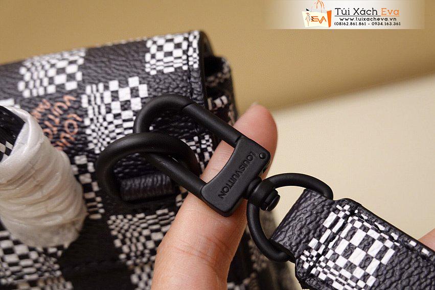 Balo thời trang LV Bag Siêu Cấp Màu Đen Sọc Caro Đẹp M60453.