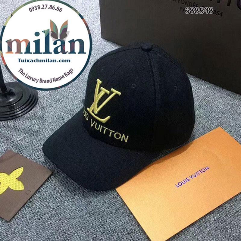 Nón LV super Đen Logo Vàng Đẹp